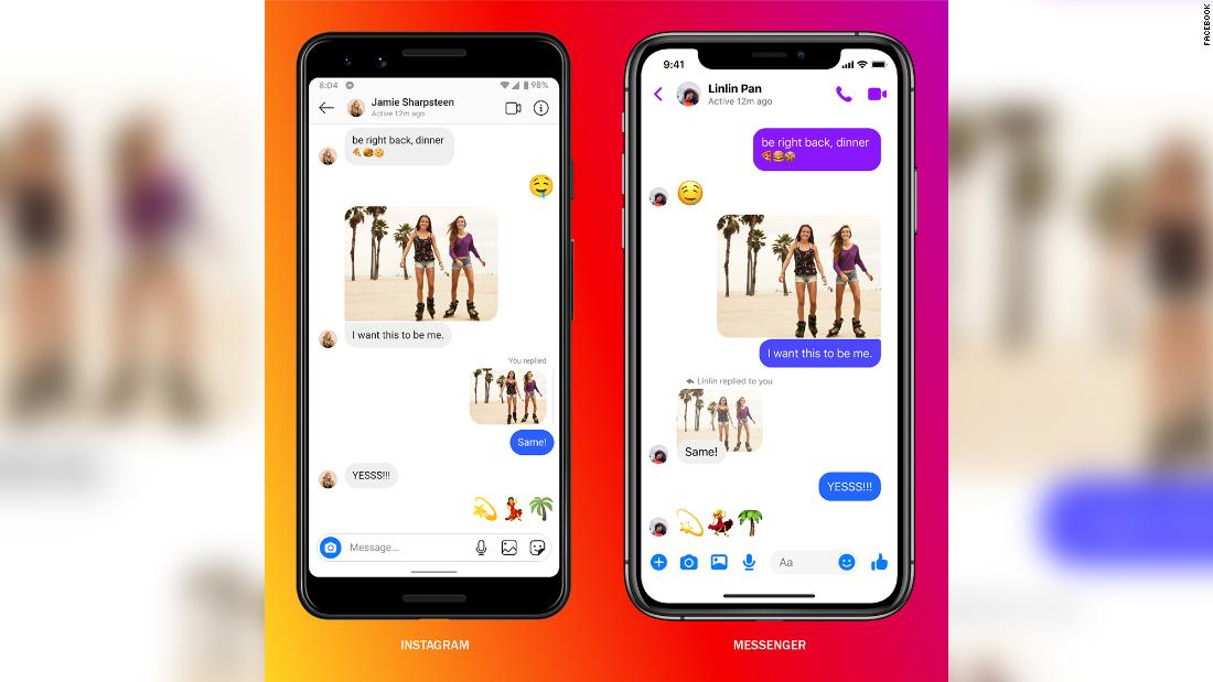 Facebook takes a big step in linking Instagram, Messenger and WhatsApp